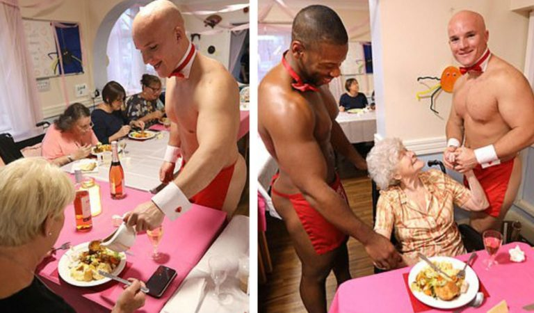Buff Naked Butlers Entertain Residents At UK Care Facility