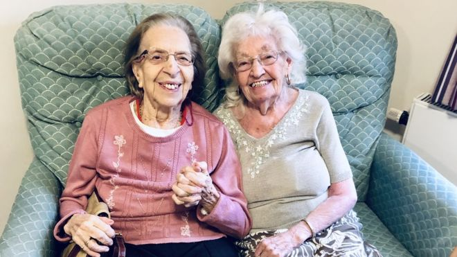 Friends of 80 years move into same care home